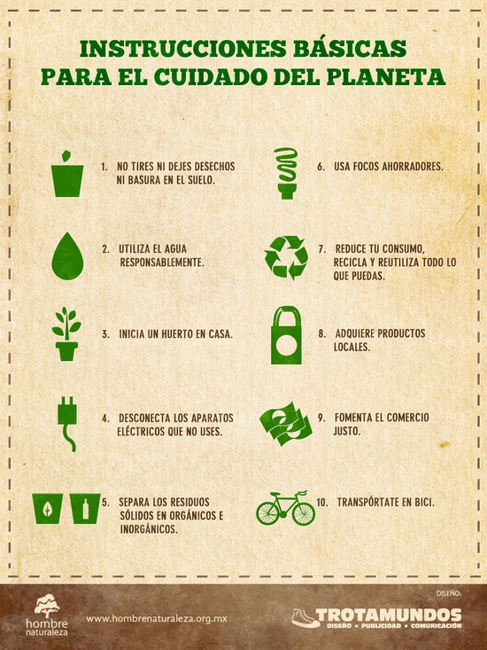 Frases sobre cuidado del medio ambiente imagui - Consejos de reciclaje ...