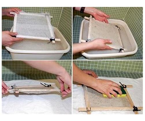 Pasos para hacer papel reciclado estilo verde - Trabajos caseros para hacer en casa ...